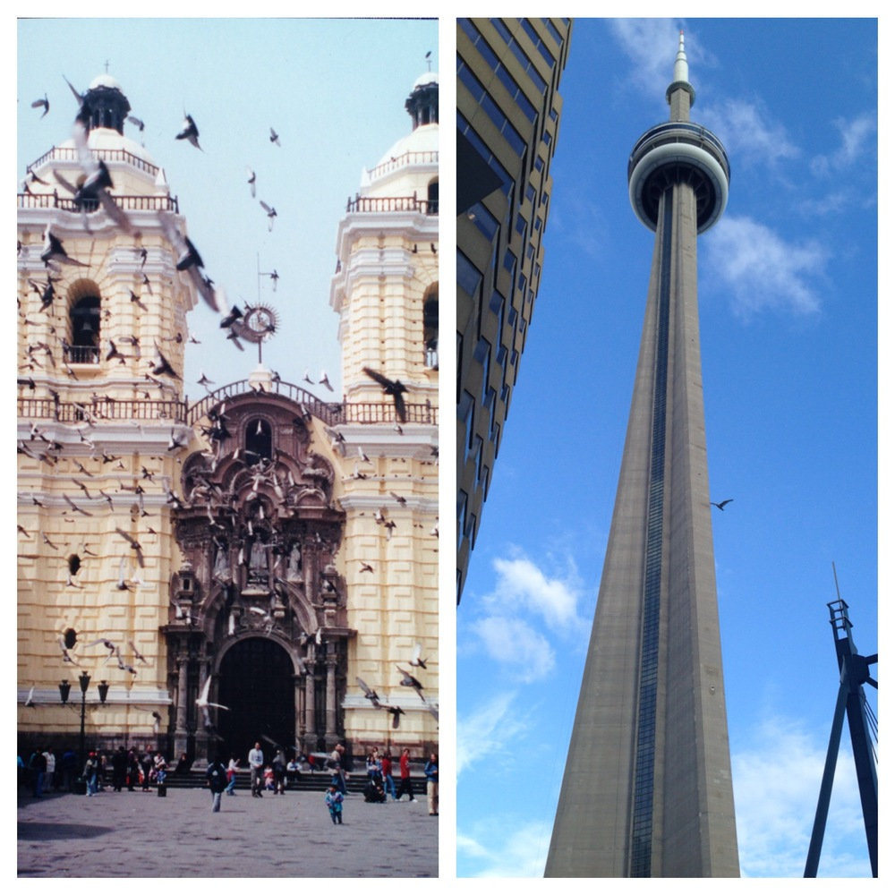 Left: Taken during my travels in Lima, Peru                       Right: This solitary bird turned this shot from good to great!