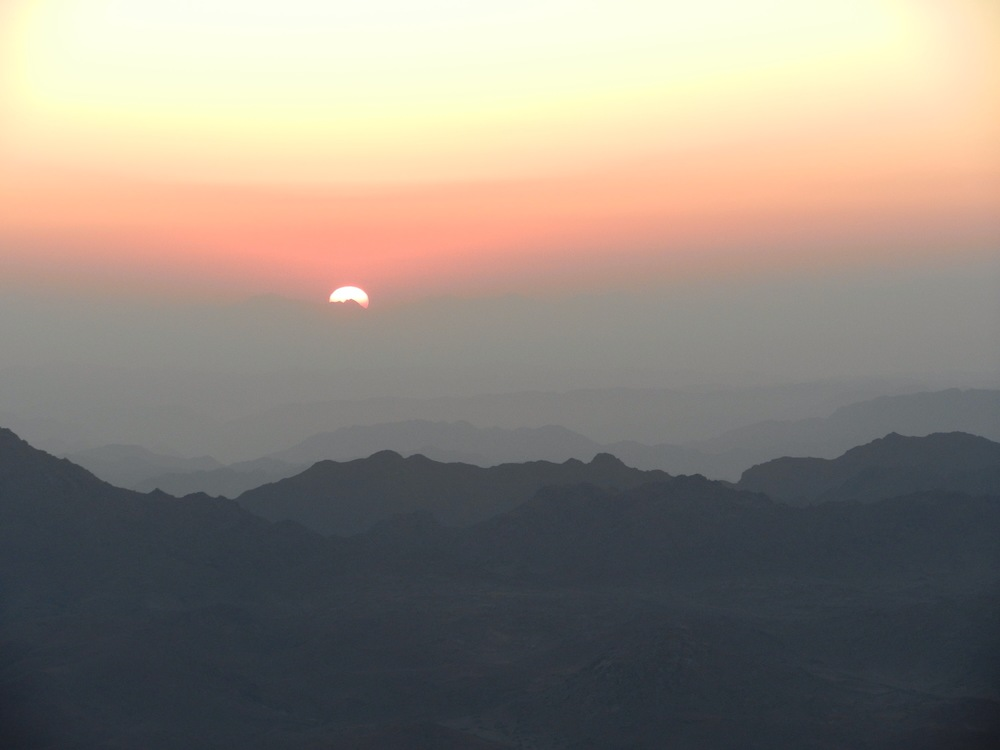 Sunrise from the top of Mount Sinai, Egypt