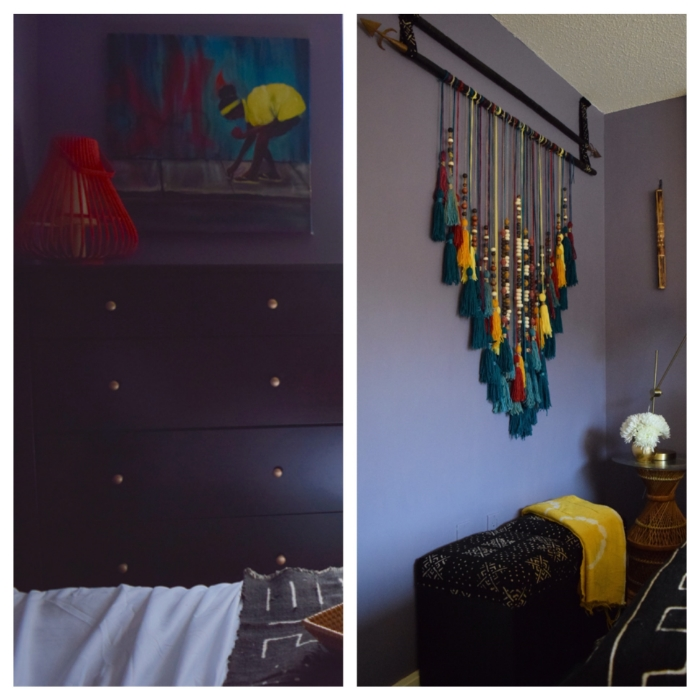 I knew my client loved African fabrics because I noticed them in other areas in her home.