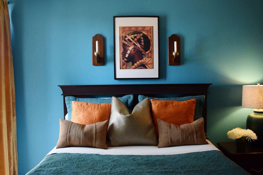 San Diego Condo, African Style Ethnic Bedroom