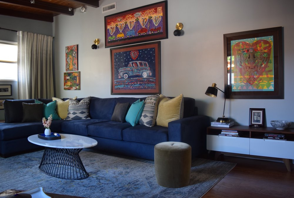 Los Angeles Living Room (All About The Art)