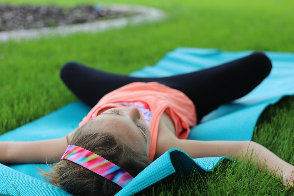 Reclined Butterfly:   Time to rest.  Lay back with the bottoms of your feet together and knees out wide.  Stretch your arms out long, away from your body.  Close your eyes and breathe.