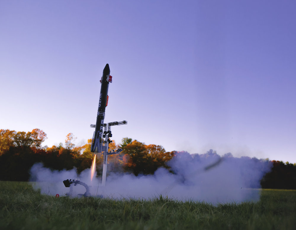 Echo TV3 leaping off the pad. A much faster ascent than TV1 and TV2 due to the removal of height-restricting ballast.