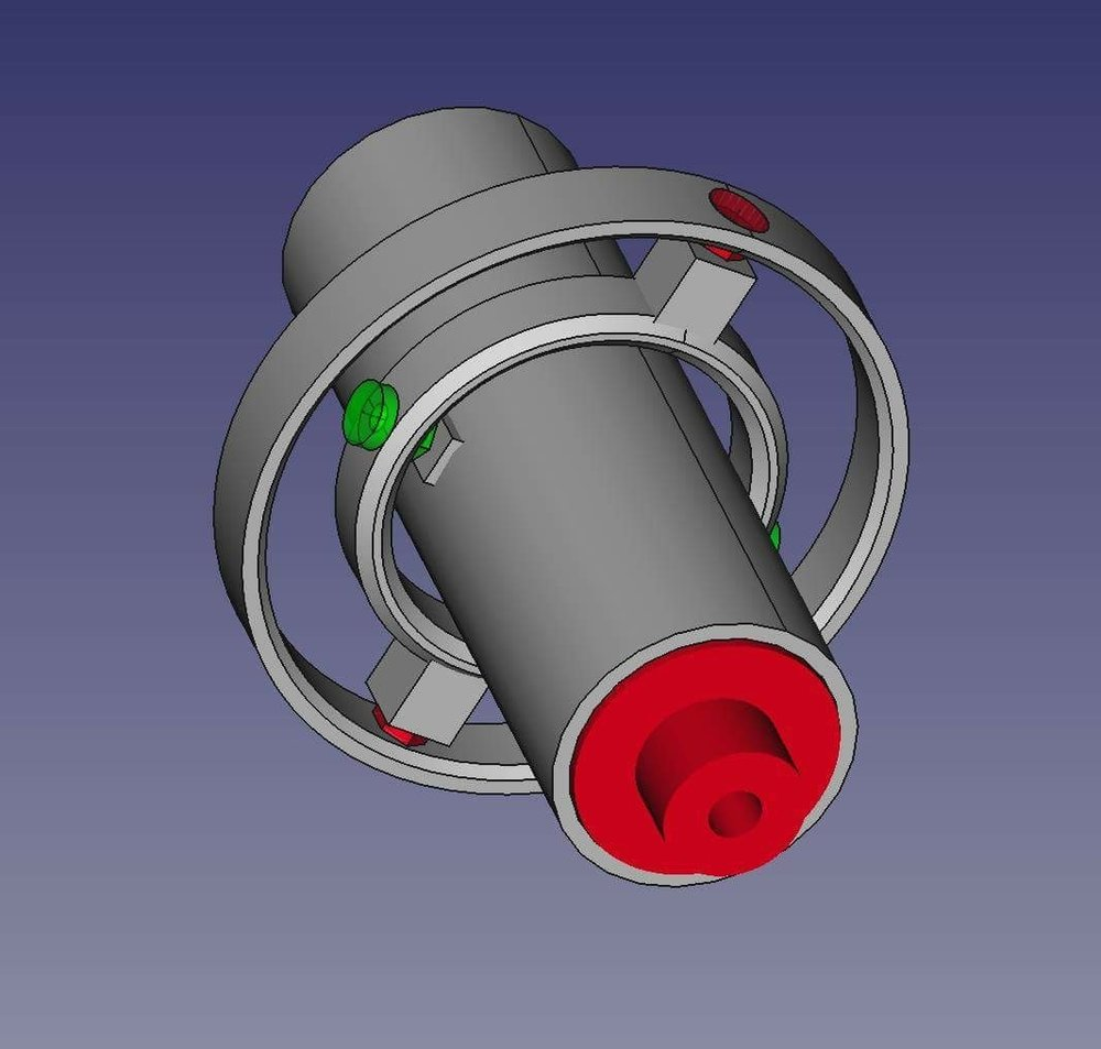 An early concept of the new thrust vectoring mount