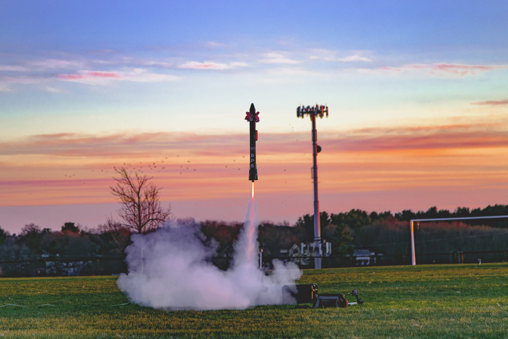 A picturesque liftoff at sunset of Echo TV7