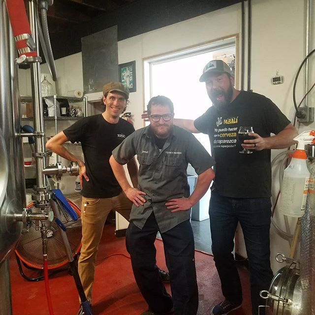 So much fun collaborating and brewing with @newbelgium @equinoxbrewing @zweibrewing @csu_fermentation  Silly kids =silly times! Blackberry Brown coming soon...