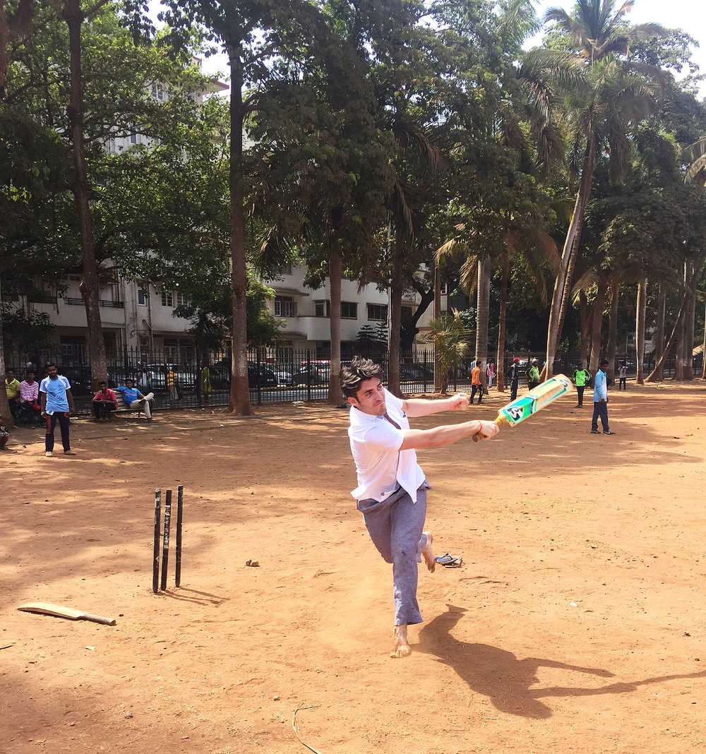 Taking a swing with the locals in Mumbai