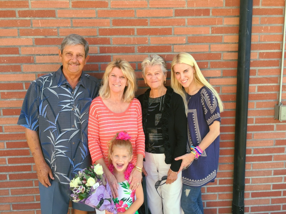 This is my family (my parents and my grandmother) and the little dancer herself!!