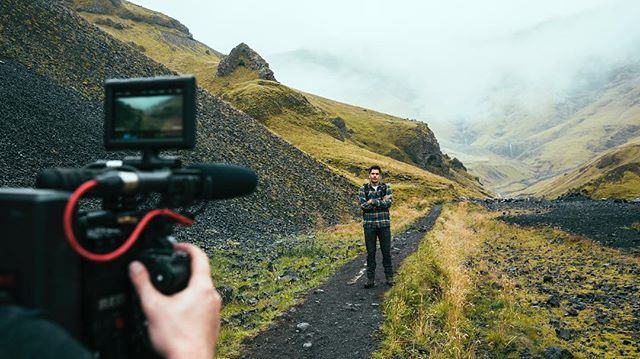 Hiking to a remote hot spring in beautiful #Iceland on our recent project with @mikeseehagel @notchvideo & @americanexpress