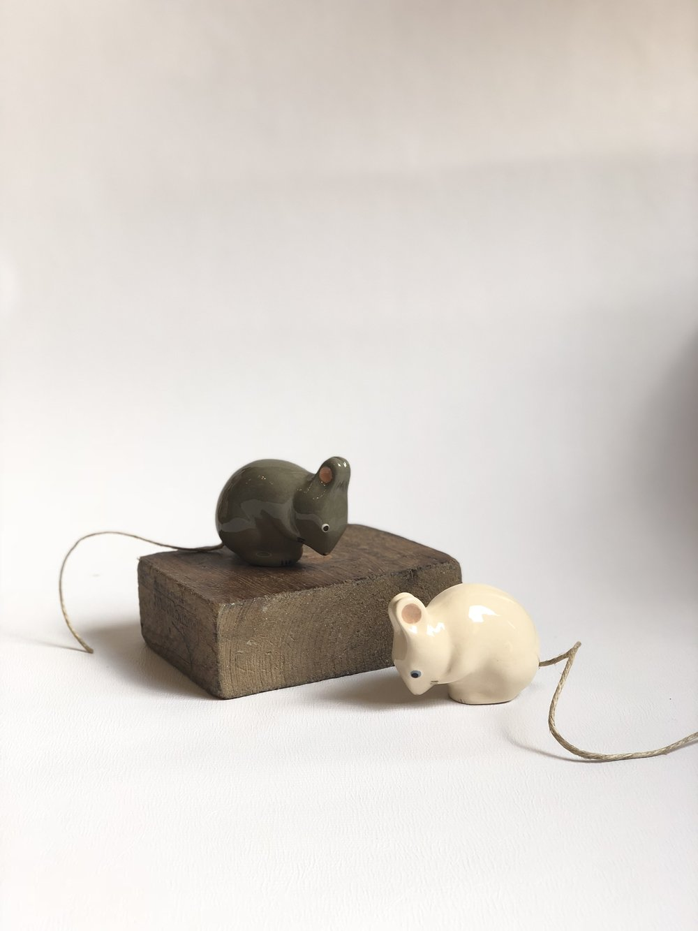 Handmade Pottery Mice $29.50 USD