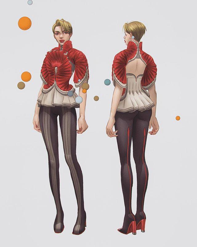 #characterart #conceptart #design #characterdesign #artoftheday #costumedesign #sketch #photoshop #digitalart #artistsoninstagram  More character stuuufffff