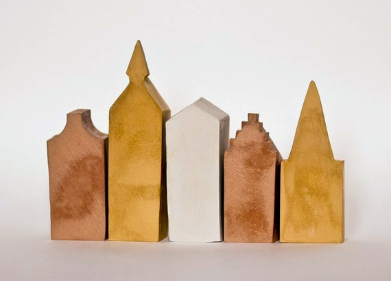 Laurie Poast. Dutch Canal Houses, 2010. Pigmented clay.
