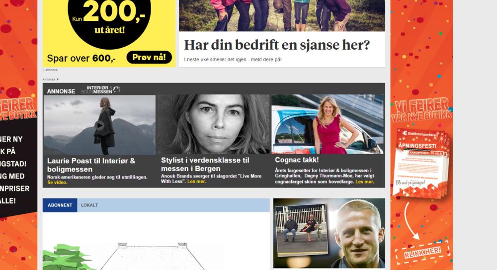POAST til Interiør og boligmessen Bergens Tidende