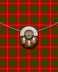 Clan Cameron tartan and sporan.jpg