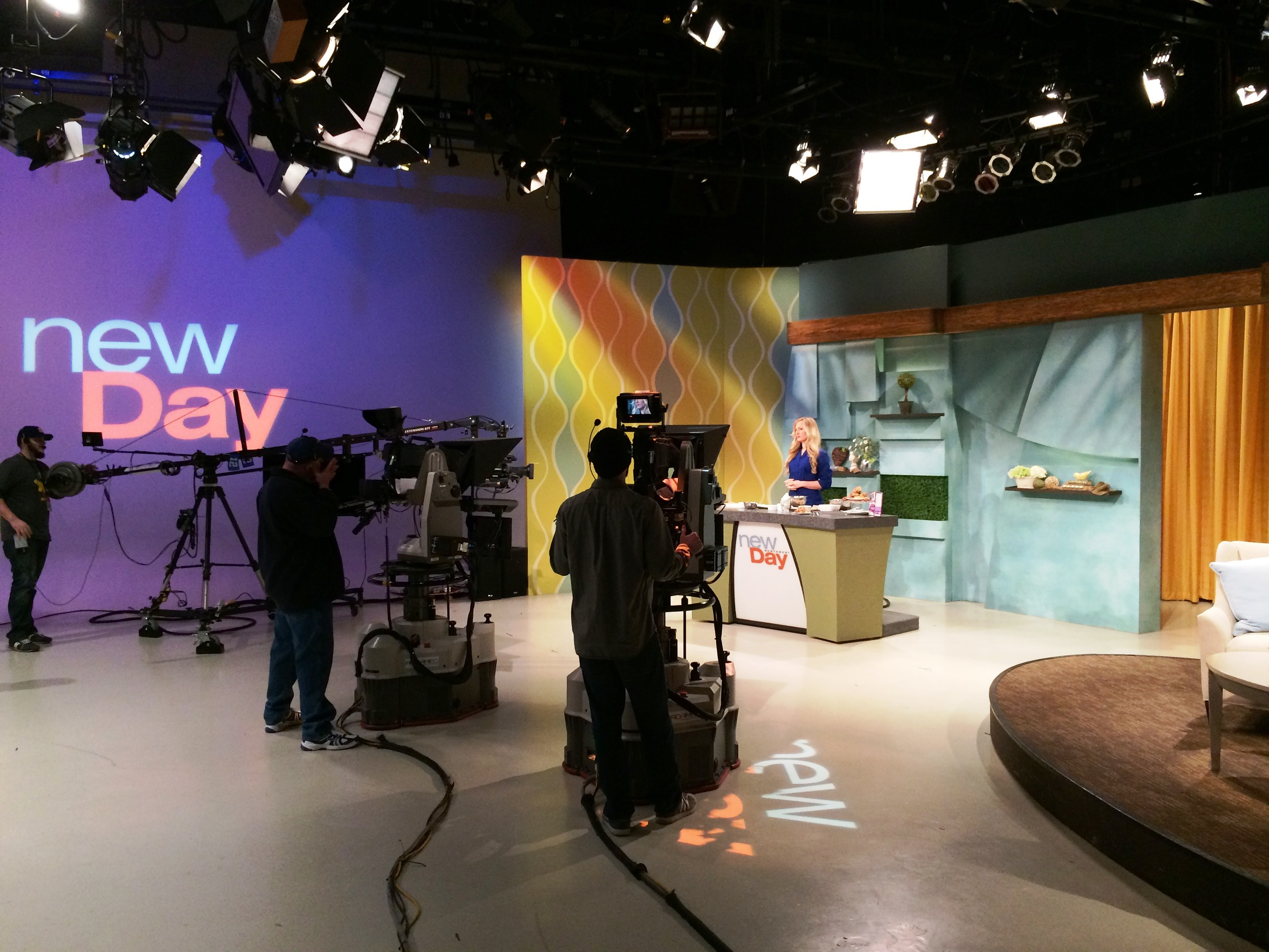 Here's what the studio looks like when you're actually there, in the audience.