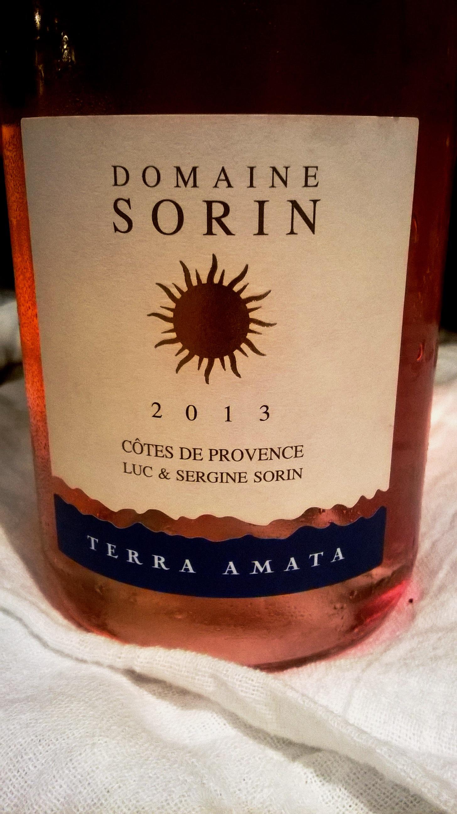 Domaine Sorin Cotes De Provence Rose 2013