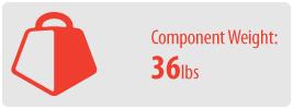Component Weight: 36 lbs | AV Component Shelf Wall Mount
