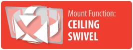 Mount Function: Ceiling Swivel | Ceiling Swivel TV Mount