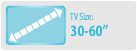 TV Size: 30-60"