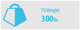 TV Weight: 300 lbs | Extra Large TV Wall Mount