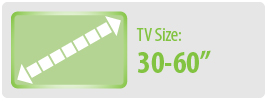 "TV Size: 30""-60"" 