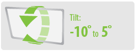 Tilt: -10° to 5° | Extra Large TV Wall Mount