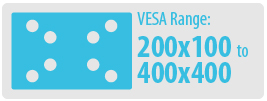 VESA Range: 200x100 to 400x400 | Medium TV Wall Mount