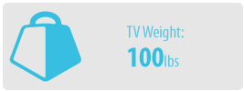 TV Weight: 80 lbs | Large TV Wall Mount