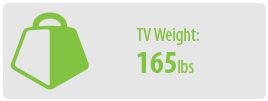 TV Weight: 165 lbs | Large TV Wall Mount