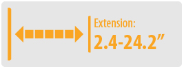 Extension: 2.4-24.2"