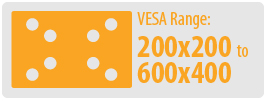 VESA Range: 200x200 to 400x400 | Large TV Wall Mount