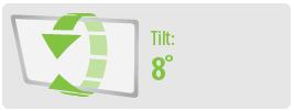 Tilt: 8° | Medium TV Wall Mount Kit