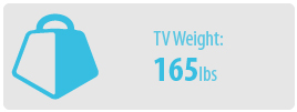 TV Weight: 165 lbs | Extra Large TV Wall Mount