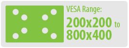 VESA Range: 200x200 to 800x400 | Extra Large TV Wall Mount