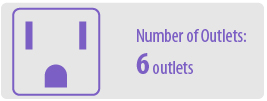 Number of Outlets: Six | 6 Outlet Surge Protector