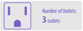 Number of Outlets: Three | 3 Outlet Surge Protector