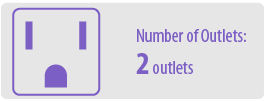 Number of Outlets: Two | 2 Outlet Surge Protector