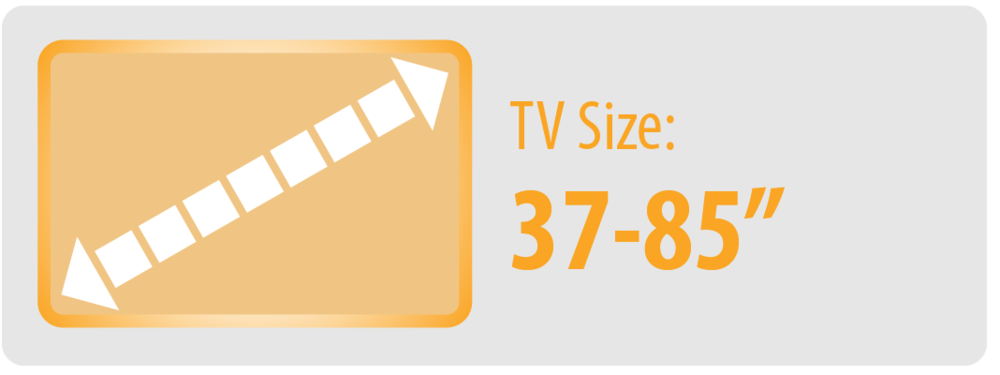 """TV Size: 37-85""""   Large TV Wall Mount"""