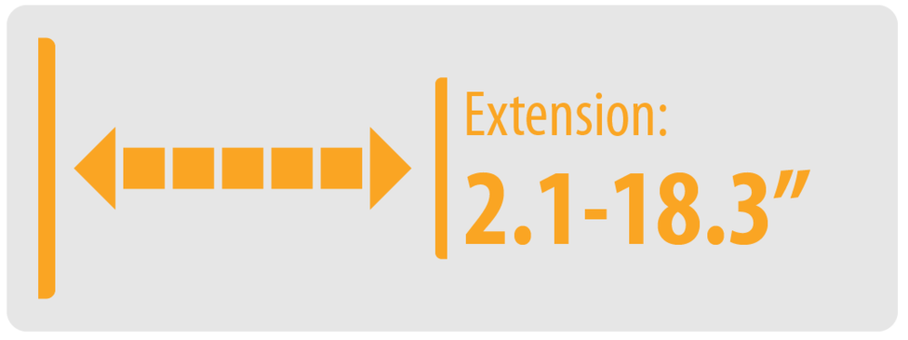 """Extension: 2.1-18.3""""   Large TV Wall Mount"""