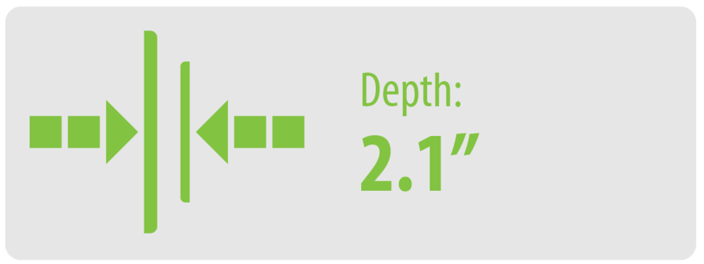 "Depth: 2.1"" | Large TV Wall Mount"