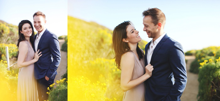 malibu southern california engagement photography sunflower field