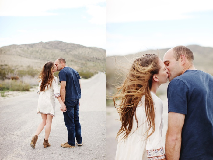 Morongo Canyon, Morongo Valley, desert boho engagement shoot