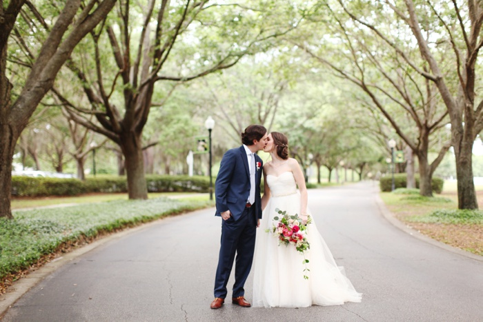 Cypress Grove Estate Orlando Central Florida Blush and Navy Wedding