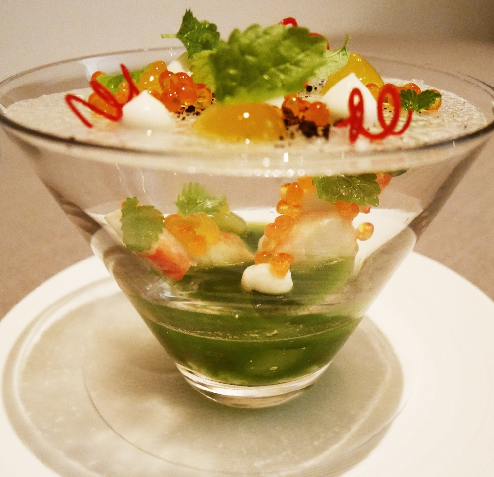 King crab, sudachi, cucumber, lemon mint