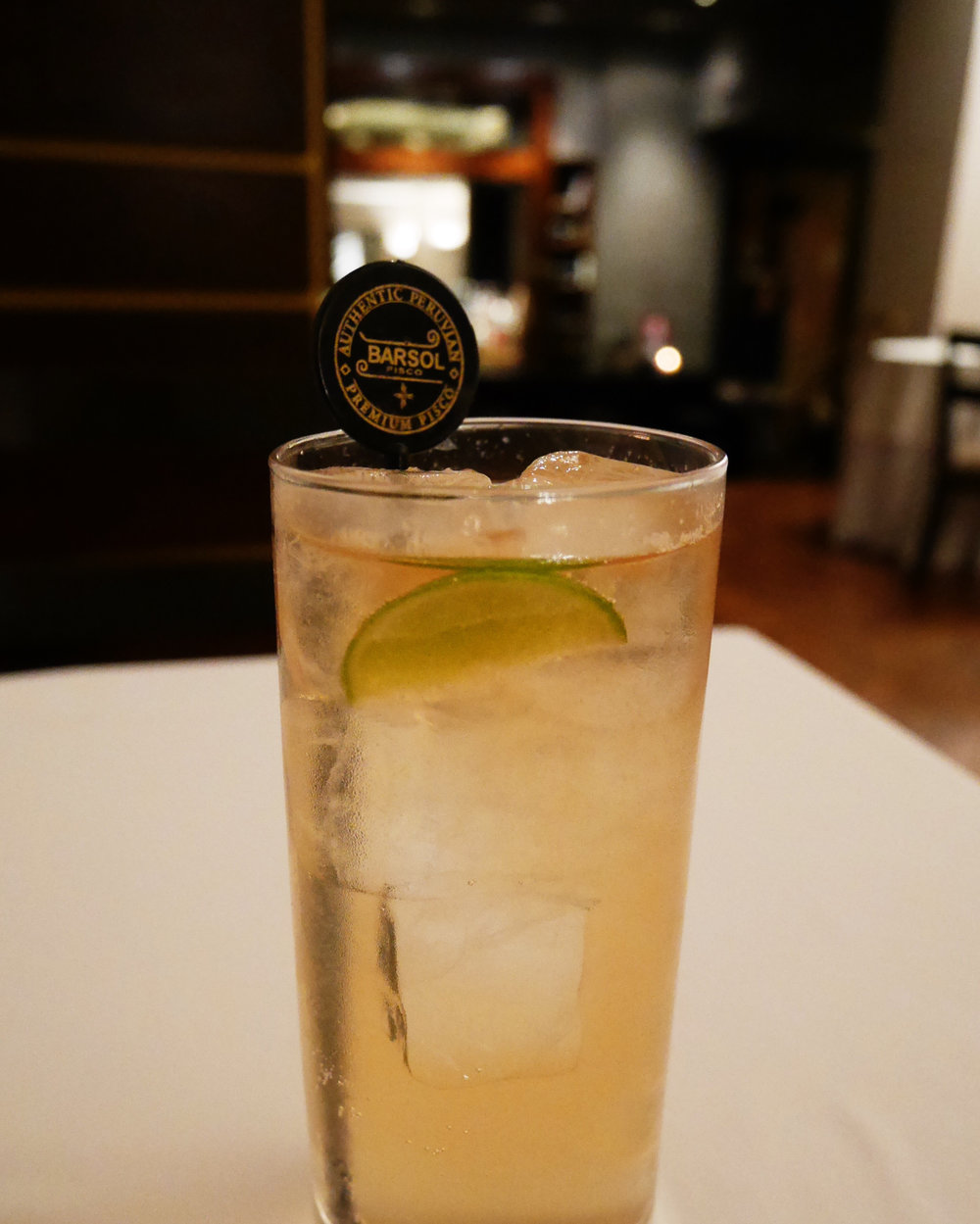 Chilcano (pisco, lime and gingerale)