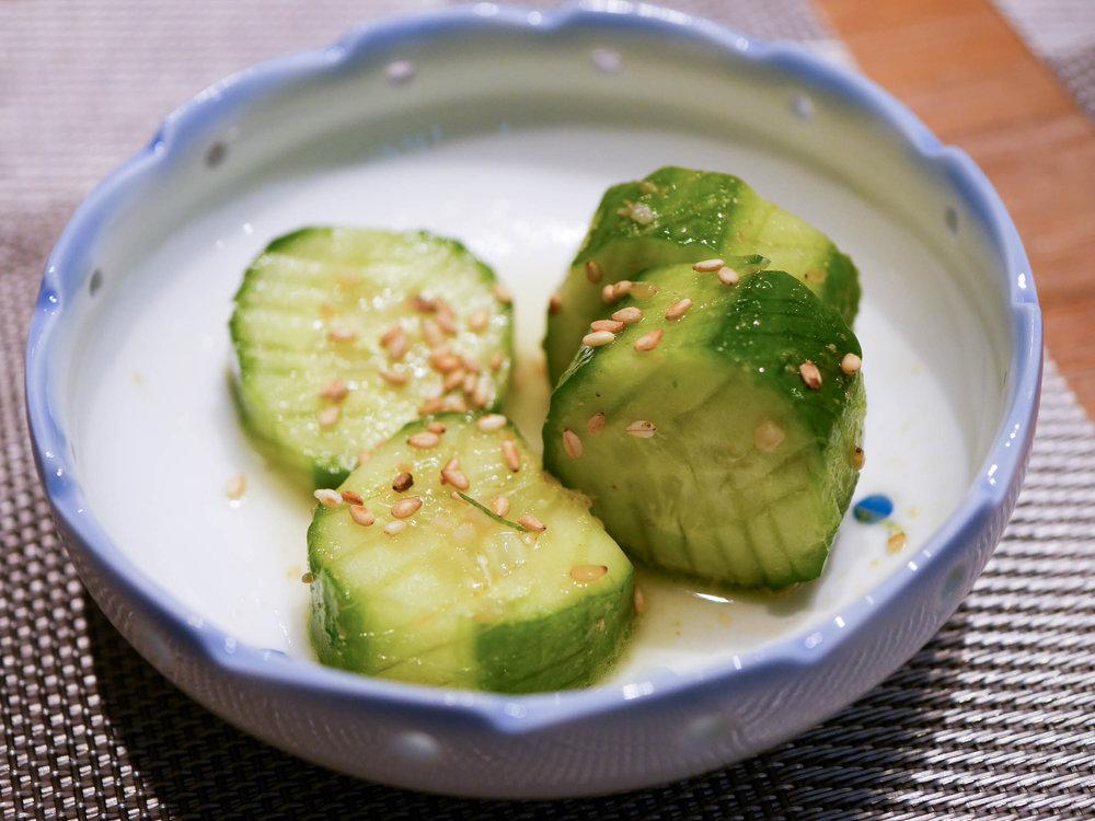 Soy cucumbers