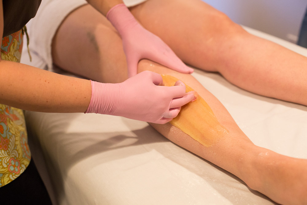 The traditional hand method of Sugaring uses a soft but manageable paste made of lemon, sugar and water. Unlike waxing, Sugar paste is applied against the direction of growth and removed by flicking WITH the direction of growth.