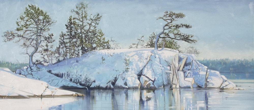 Snowy Shoreline I