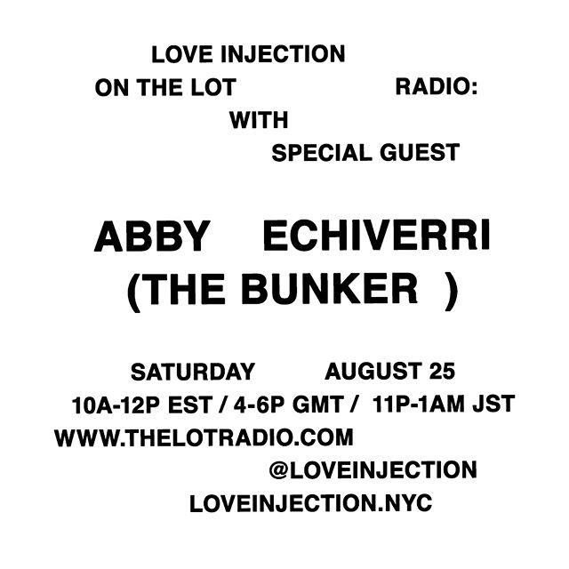 """let's stay up all night friday so i can play some music for you saturday morning. I plan on playing my definition of """"morning music"""" with lots of left field vocals and pretty teshno and electroacoustic zone outs and woody percussion @loveinjection.nyc // tune into the stream live saturday on *the lot radio*"""