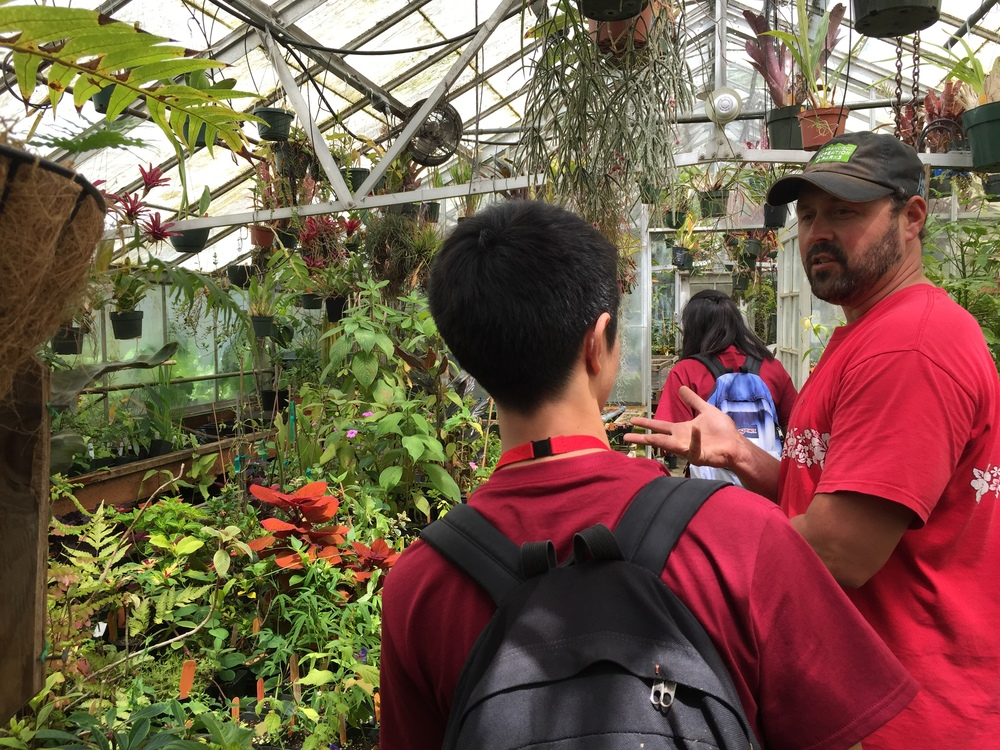 Year 2 students visit the plant nursery of the Botanical Garden in San Francisco